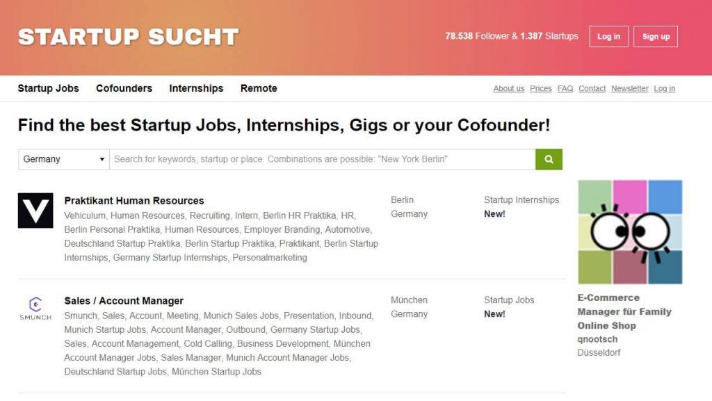 Screenshot startupsucht