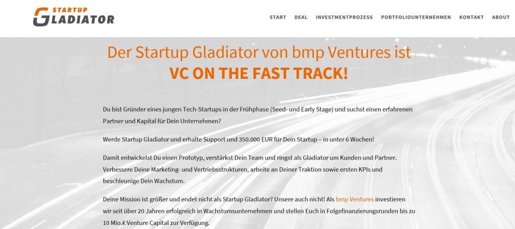 Screenshot Startup Gladiator